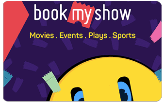 bookmyshow pre-paid or gift card